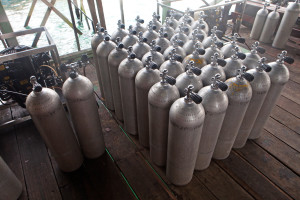 scuba diving air tank